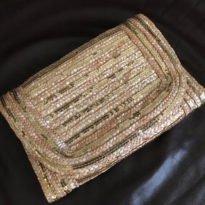 Sequin Straw Clutch